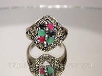 Перстень из серебра с драгоценными камнями