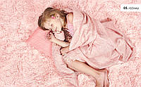 Ковер плюшевый 133x190 INSPIRE Розовый