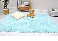 Ковер плюшевый 133x190 INSPIRE Светло-голубой