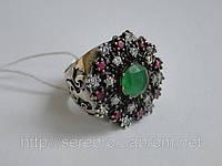 Серебрянное кольцо с изумрудом