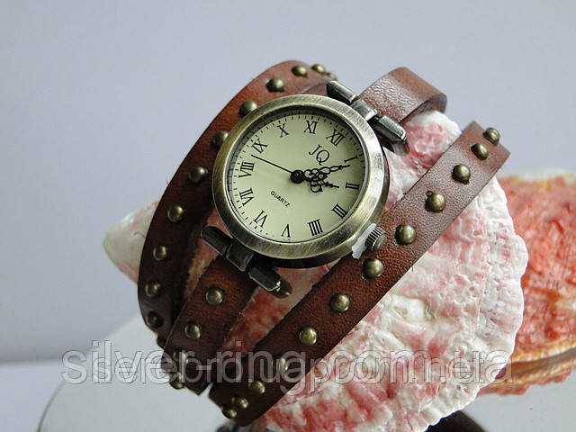"""Часы для молодежи на кожаном ремешке """"Коричневые"""""""