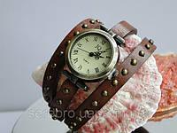 """Часы для молодежи на кожаном ремешке """"Коричневые"""", фото 1"""
