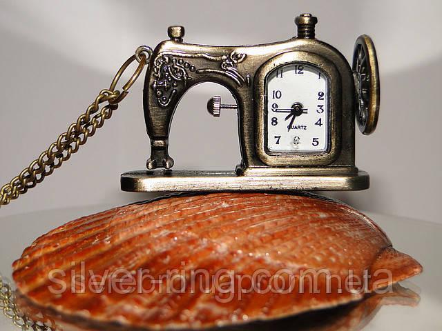 """Украшение на шею часы - подвес """"Швейная машинка"""""""