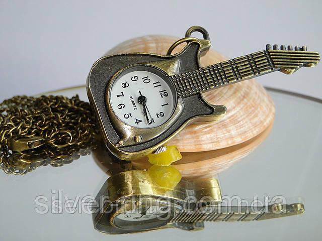 """Винтажные часы - подвеска """"Гитара"""""""