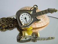 """Винтажные часы - подвеска """"Гитара"""", фото 1"""