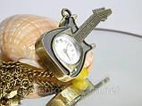 """Винтажные часы - подвеска """"Гитара"""", фото 3"""
