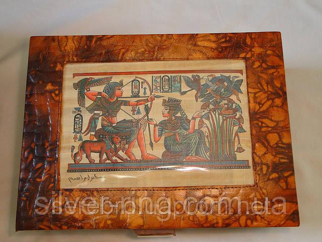 Шкатулка для ювелирных изделий с папирусом