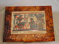 Шкатулка для ювелирных изделий с папирусом, фото 1