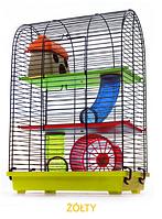 Клетка для хомяка, мыши, грызунов  + опилки + корм 8 Жолтый