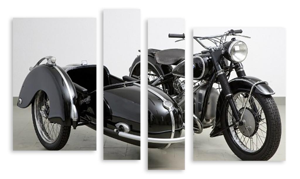 Модульная картина мотоцикл с коляской