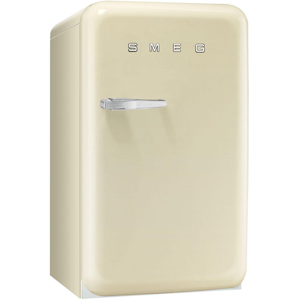 Отдельно стоящий однодверный холодильник, стиль 50-х годов Smeg FAB10RP кремовый