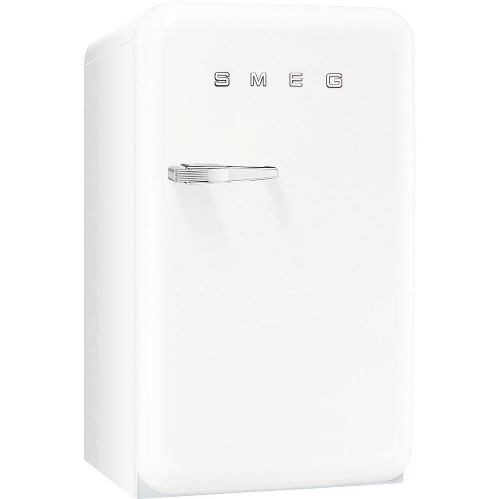 Отдельно стоящий однодверный холодильник, стиль 50-х годов Smeg FAB10RB белый