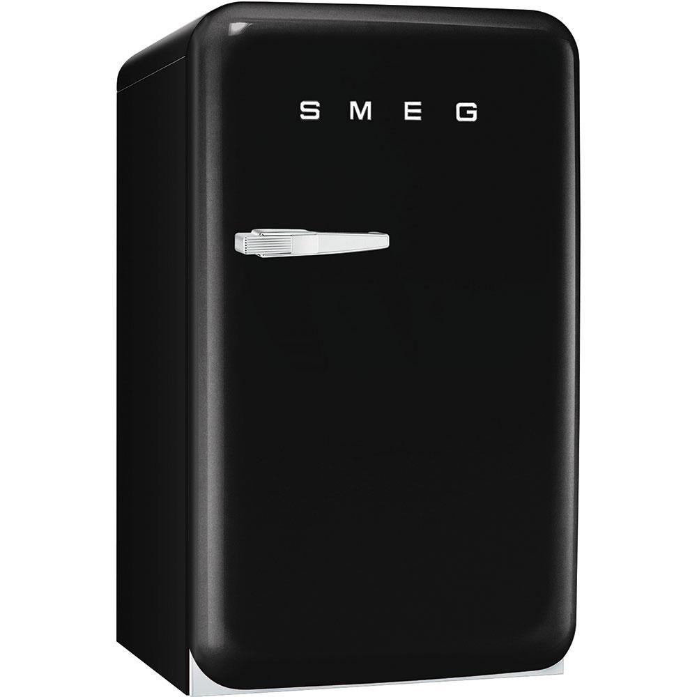 Отдельно стоящий однодверный холодильник, стиль 50-х годов Smeg FAB10RNE черный