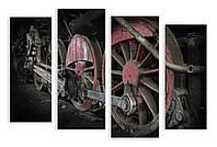 Модульная картина колеса поезда