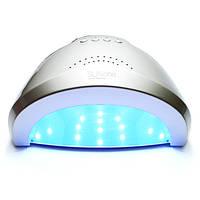 LED+UV лампа для маникюра SUN One 48W Серебро