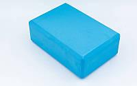 Блок для йоги RI-7736 синий