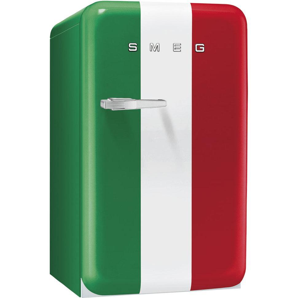 Отдельностоящий мини-бар, стиль 50-х годов Smeg FAB10HRDIT2 итальянский флаг