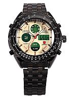 Мужские наручные часы Shark Eightgill беж-черные
