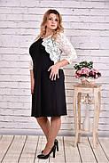 Женское стильное платье с гипюром 0643  / размер 42-74 / баталл, фото 2