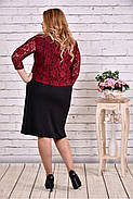 Женское стильное платье с гипюром 0643  / размер 42-74 / баталл, фото 4
