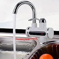 Проточный мгновенный водонагреватель на кран с цифровым табло (Делимано Delimano)