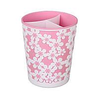 """Подставка для столовых приборов """"Дольче вита"""" Альтернатива розовый"""