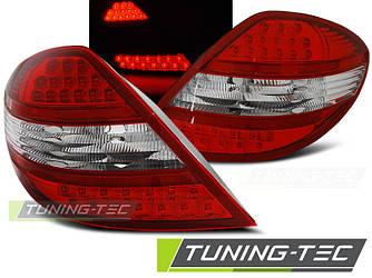 Фонари задние тюнинг оптика стопы Mercedes Benz SLK R171 красно-белые