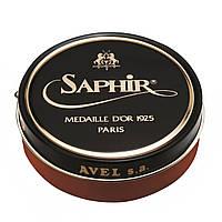 Паста-крем Saphir Medaille D'or для обуви Pate De Luxe 50 мл., Светло-коричневая