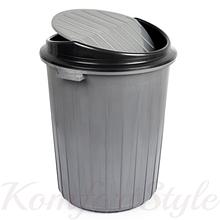 Бак для сміття з хитної кришкою 50 л кольори в асортименті