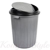 Бак для мусора с качающейся крышкой 70 л цвета в ассортименте