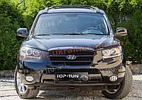 Накладка на крышку капота на Hyundai Santa Fe 2010-2012