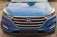Накладка на крышку капота на Hyundai Tucson 2015