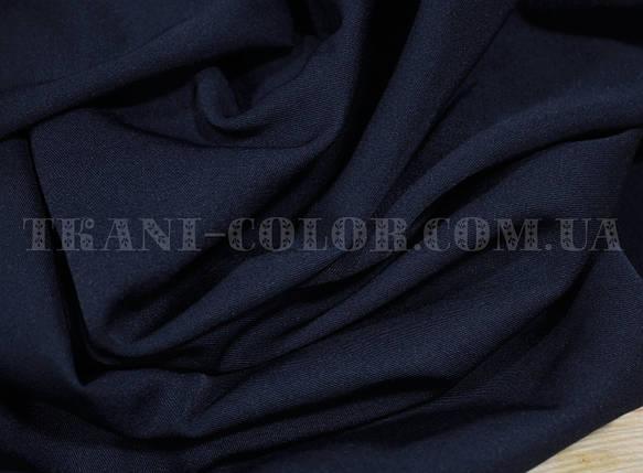 Костюмная ткань мадонна темно- синяя, фото 2