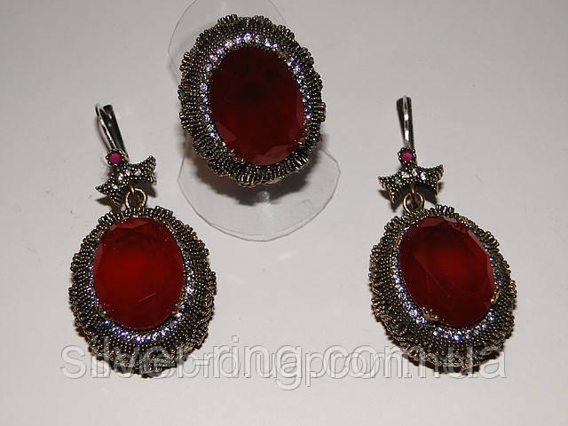 Комплект женский с рубином