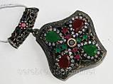 Кулон из черненого серебра в этническом стиле, фото 2