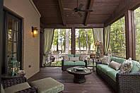 Красивые шторы для беседки террасы