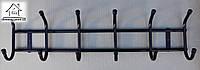Вешалка настенная металлическая на 6 крючков