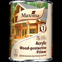 """Деревозащитная акриловая грунтовка """"Acrylic Wood Primer"""" ТМ """"Maxima"""" бесцветный 0,75 л"""
