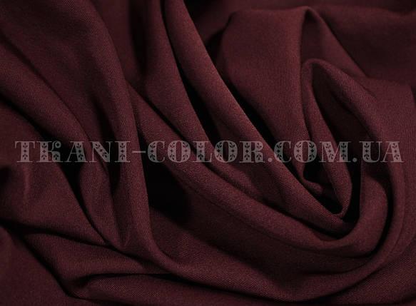 Костюмная ткань мадонна бордовая, фото 2