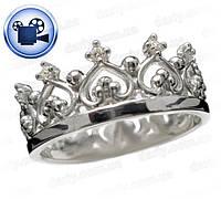 Серебряное кольцо Королева.