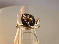 Украшения с янтарем - женский перстень