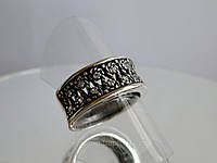 Кольцо ажурное с мелкими цирконами для женщины