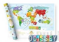 The World Map for Kids (Sights) / Скретч карта мира для детей Travel Map Kids ( Достопримечательности) (07tks)