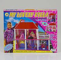 Домик для Барби 2-х этажный, 5 комнат и веранда (ОПТОМ) 6980