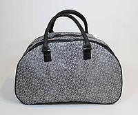 Женская дорожная сумка серого цвета