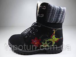 "Зимние ботинки для девочки ""Канарейка"" Размер: 34"