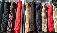 Перчатки женские вязка митенки длинные
