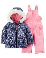 Зимний детский комбинезон 2в1 (куртка+штаны) для девочки Картерс  +новая коллекция