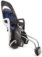 Велокресло детское HAMAX Caress на раму серое/синее