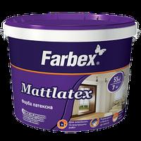"""Краска латексная для наружных и внутренних работ """"Mattlatex"""" ТМ """"Farbex"""" белый матовый 20 кг"""